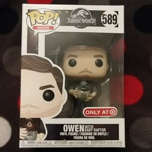 Owen with Baby Raptor Pop